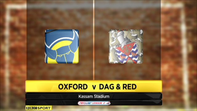 Oxford Utd 2-1 Dag and Red