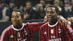 Robinho (right) celebrates with team-mate Urby Emanuelson