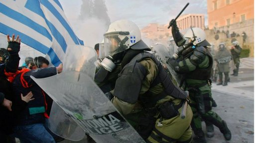 Greek protestors