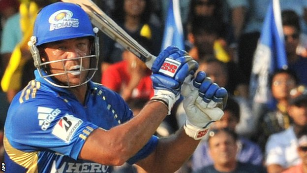 Andrew Symonds in action for Mumbai Indians