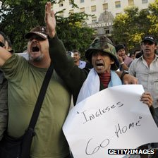 Protest by Argentina&#039;s war veterans
