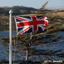 Union flag flies in the islands