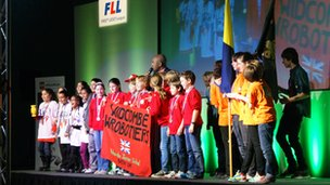 team at lego league competition