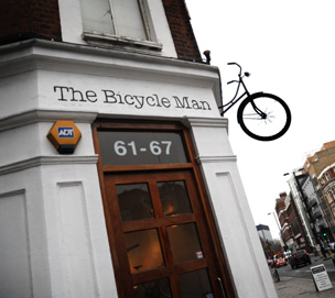 The Bicycle Man shop exterior