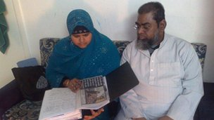 Muslim faith crime victims Sabana Amod and her husband Salim