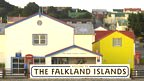 Falkland Islands welcome sign
