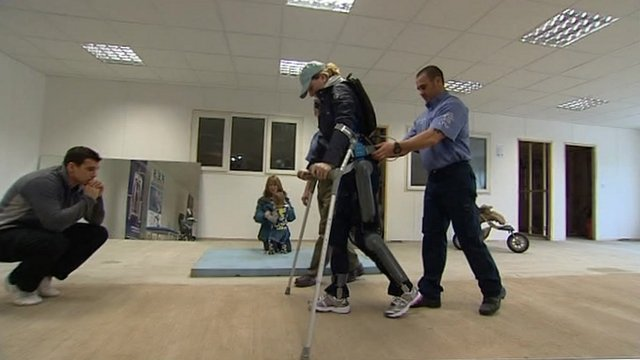 Claire Lomas tests the Rewalk suit