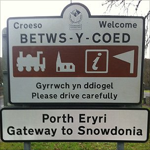 Betws-y-Coed sign