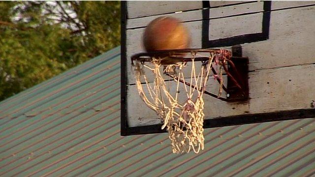 Basketball hoop in Juba, South Sudan