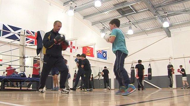 People training at Woking Boxing Club