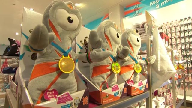 Olympics merchandise on sale