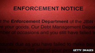 A final demand letter from a debt recovery firm