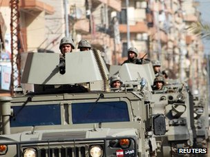 Lebanese troops patrol Tripoli (12 February 2012)