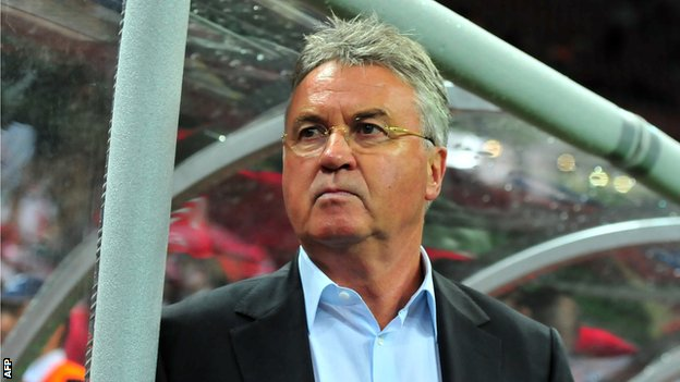 Guus Hiddink was named caretaker manager at Chelsea in February 2009