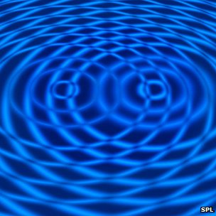 Artwork depicting wave interference