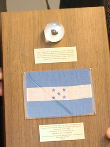Moon rock in a plaque