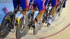 The legs of Chile&#039;s men&#039;s cycling pursuit team