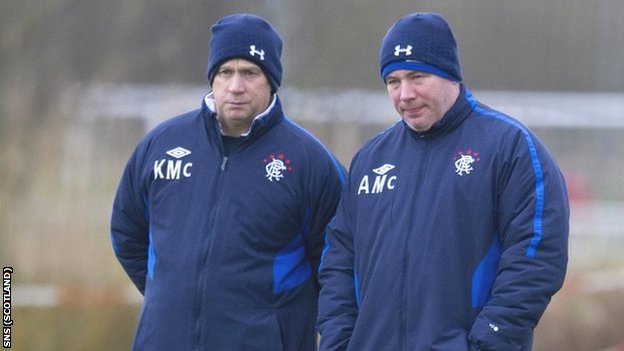 Rangers manager Ally McCoist and assistant Kenny McDowall