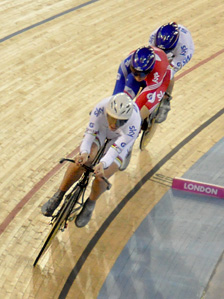 GB women at the Olympic Velodrome