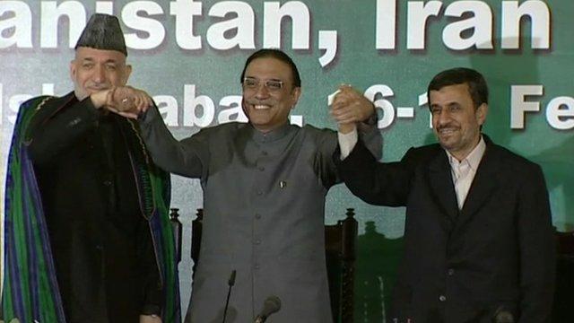 President Karzai, President Zardari, and President Ahmedinejad.