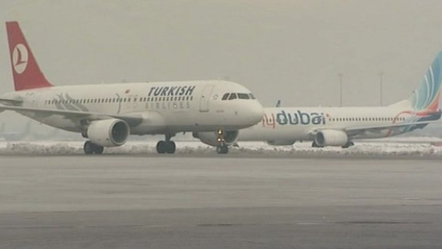 Foreign airline carriers at Kabul International Airport