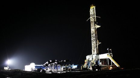 Fracking operation in Springville, Pennsylvania