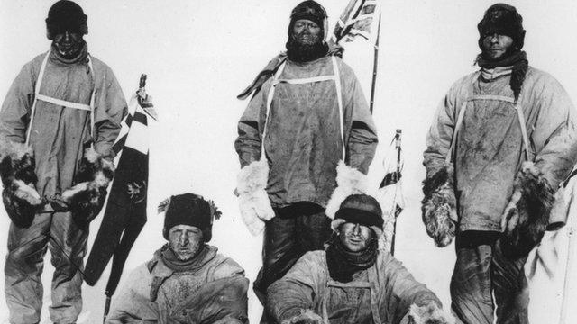 Captain Scott's team at South Pole