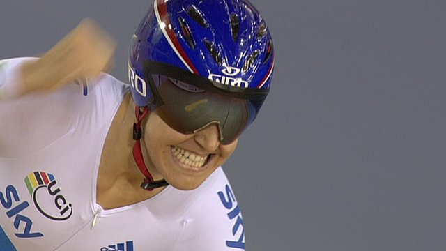 Great Britain&#039;s Joanna Rowsell, Dani King and Laura Trott win team pursuit