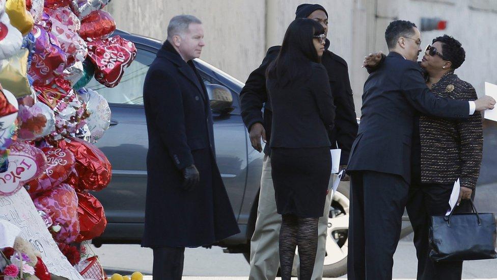 Whitney Houston Funeral Whitney Houston at the