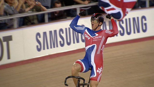 Sir Chris Hoy wins keirin gold at Track Cycling World Cup 2012