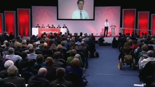 Ed Miliband addresses the Welsh Labour conference