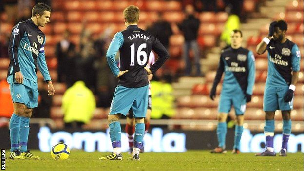 Arsenal lose at Sunderland