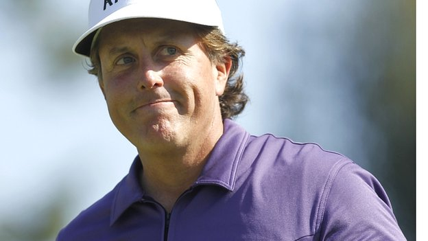 PHIL MICKELSON took a wild ride to grab a share of the lead at the Sun Trust Open.