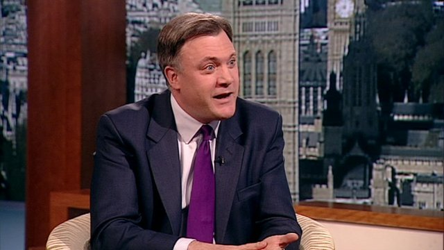 Labour shadow chancellor Ed Balls