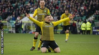 Hooper scored the second goal for Celtic against Hibs