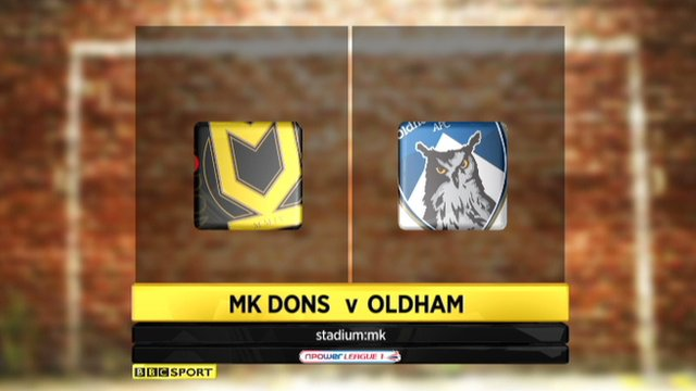 Highlights - MK Dons 5-0 Oldham