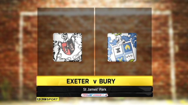 Highlights - Exeter 3-2 Bury