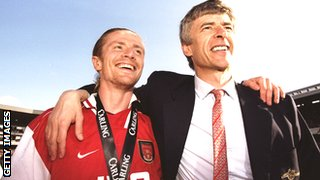 Emmanuel Petit and Arsene Wenger