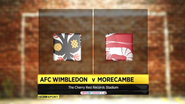 Highlights - AFC Wimbledon 1-1 Morecambe