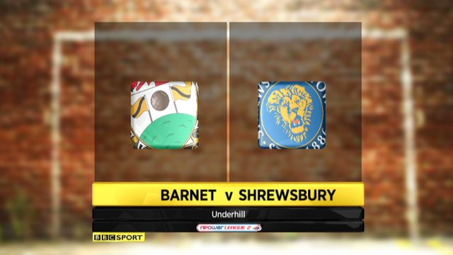 Highlights - Barnet 1-2 Shrewsbury