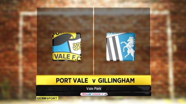 Port Vale 2-1 Gillingham