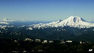 A general view of the Cascade Mountains (file image)