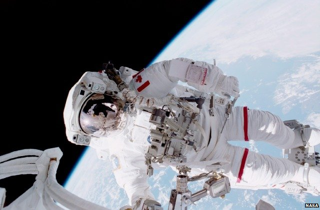 Chris Hadfield spacewalking