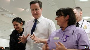 Prime Minister David Cameron visits the Royal Victoria Infirmary Hospital in Newcastle last week