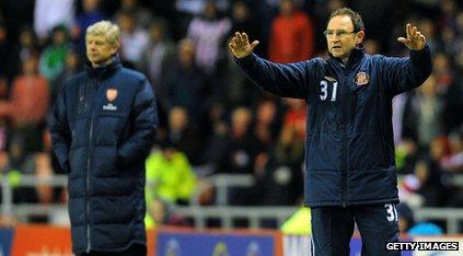 Martin O'Neill and Arsene Wenger