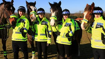 Officers Richard Tallent, Becky Taylor, Nicola Rix and Edward Arbuthnot (left to right)