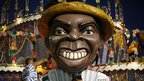 Man polishing a Portela samba school float