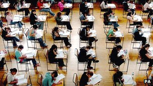 Pupils in school examination