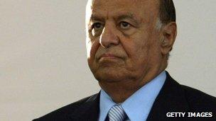 Yemeni caretaker president Abdrabbuh Mansour Hadi