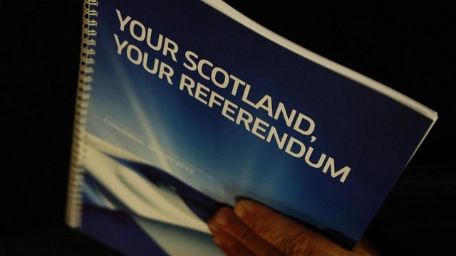 Your Scotland Your Referendum document